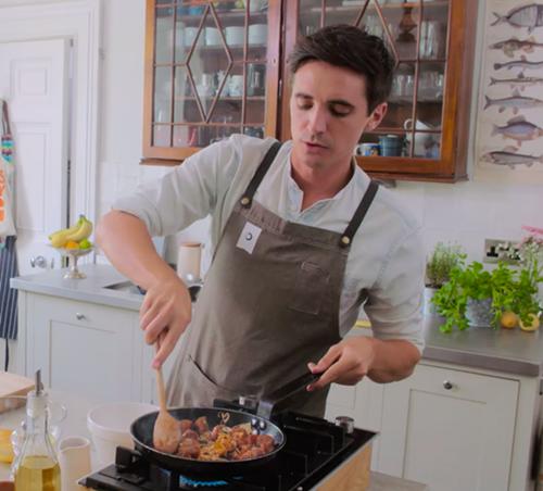 Barcelona Eat Local Food Tours featuring chef Donal Skehan preparing spanish tapas