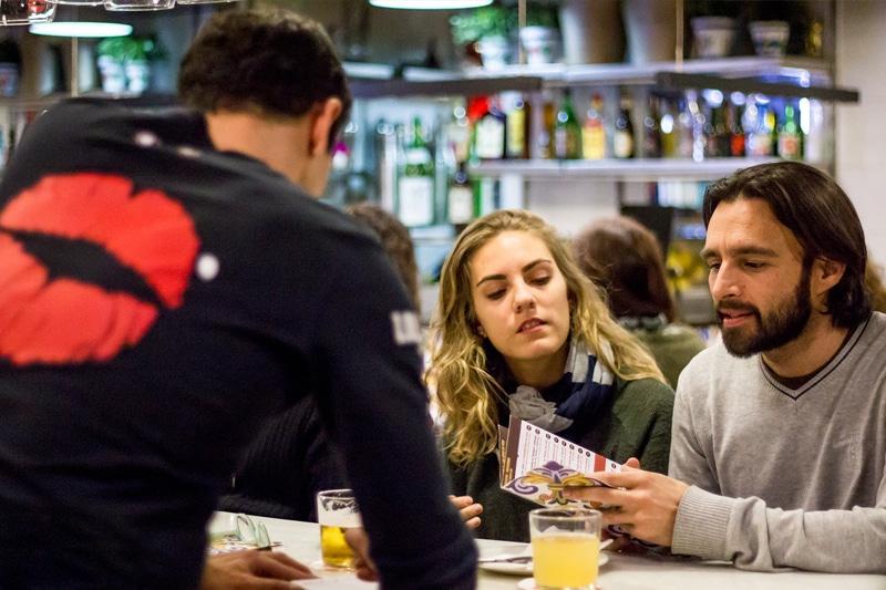 Ordering tapas at Lolita Taperia in Barcelona